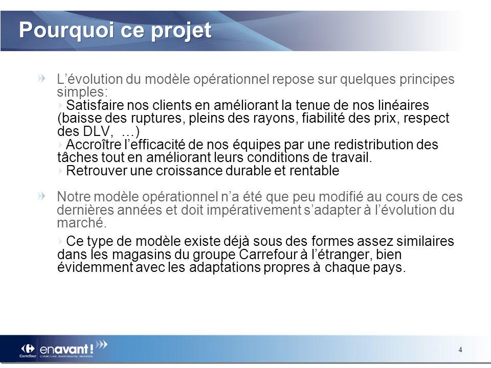 24 Planning type de déploiement A lissue du processus dinformation / consultation des IRP, le déploiement du projet est prévu en 3 vagues dici la fin de lannée 2010, dans un premier temps, sur une centaine de magasins.