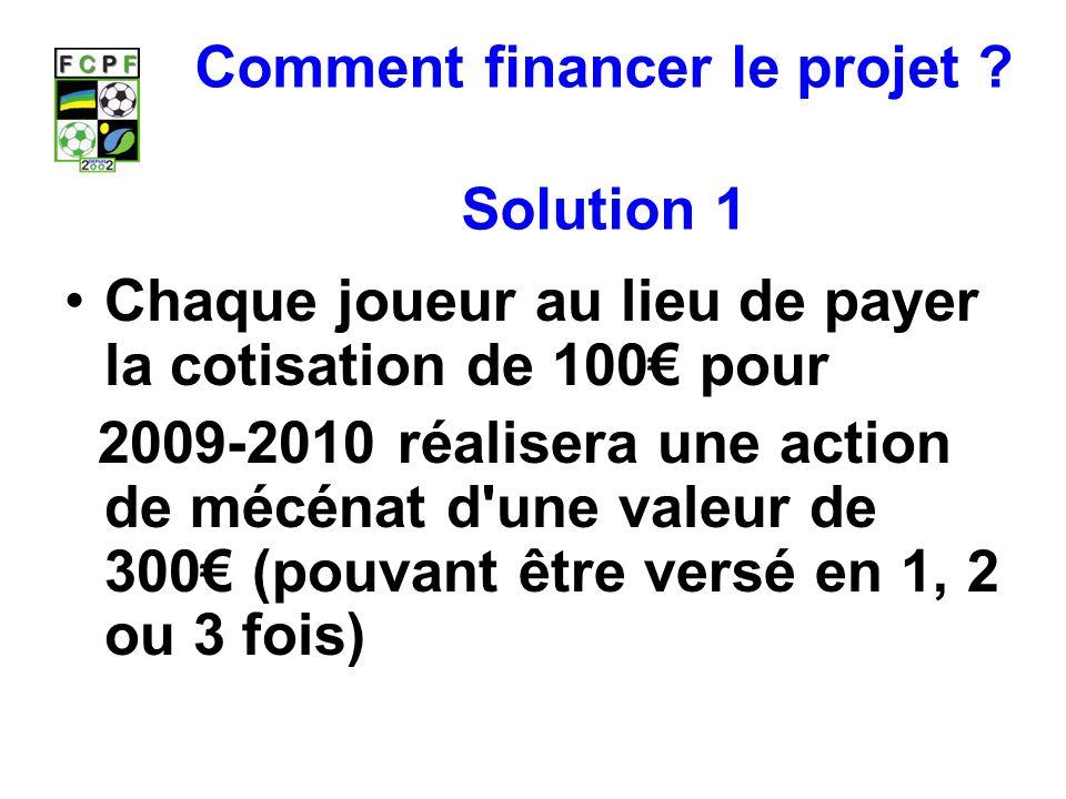 Comment financer le projet .