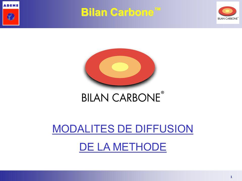 1 Bilan Carbone Bilan Carbone MODALITES DE DIFFUSION DE LA METHODE