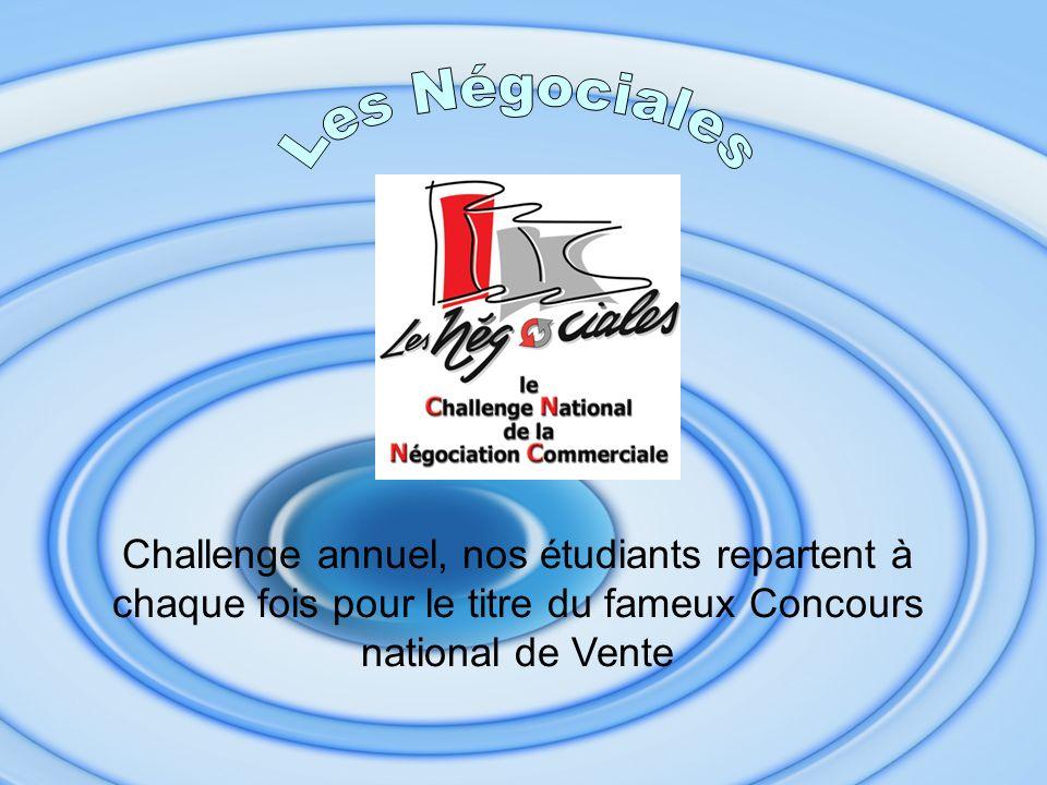 Challenge annuel, nos étudiants repartent à chaque fois pour le titre du fameux Concours national de Vente