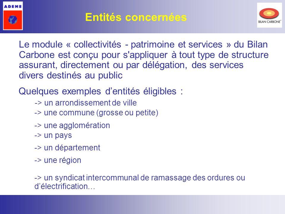 2 Le module « collectivités - patrimoine et services » du Bilan Carbone est conçu pour s'appliquer à tout type de structure assurant, directement ou p