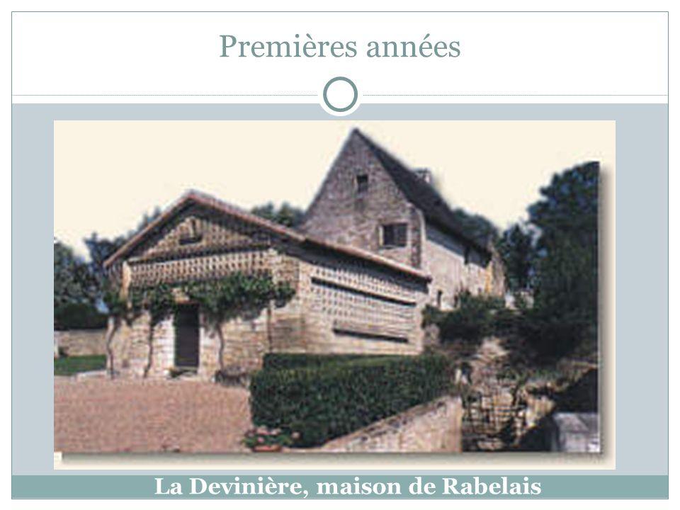 La Devinière, maison de Rabelais Premières années