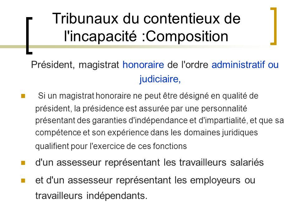 Tribunaux du contentieux de l'incapacité :Composition Président, magistrat honoraire de l'ordre administratif ou judiciaire, Si un magistrat honoraire