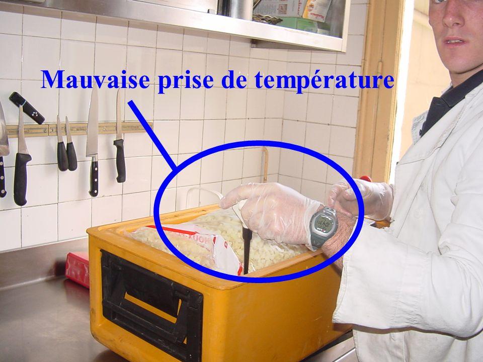 Mauvaise prise de température