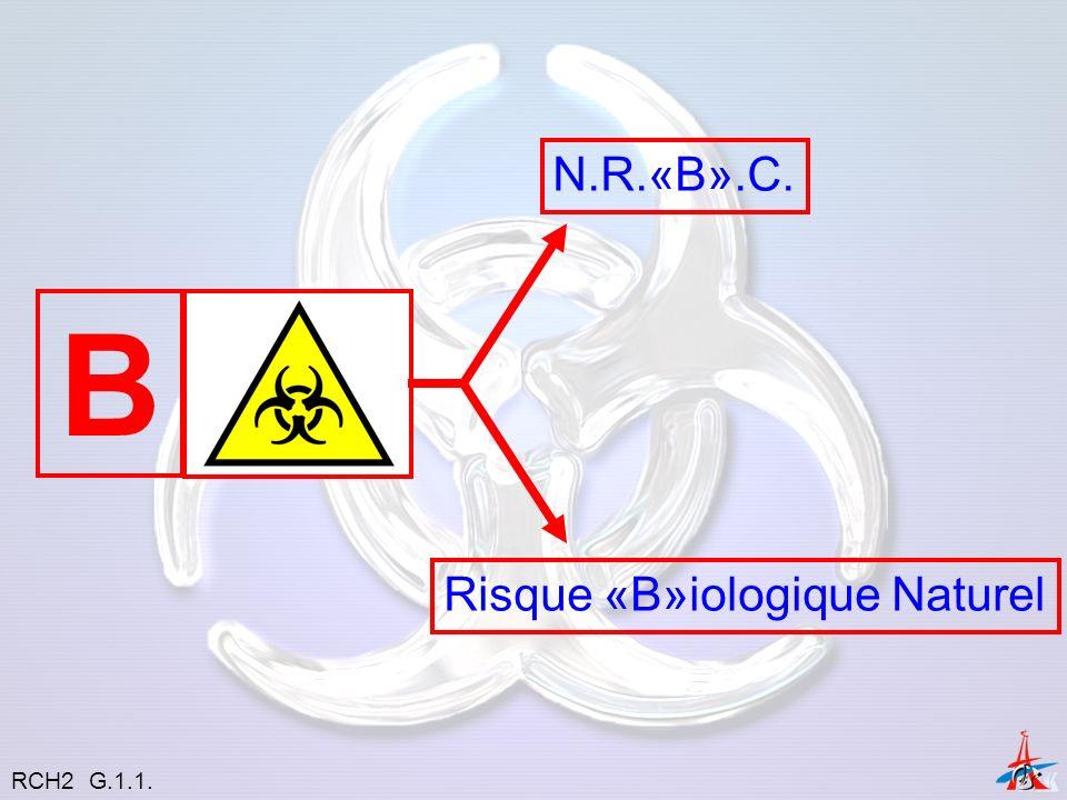 Le risque biologique intentionnel « Arme à conséquences plus étendues » Arme ChimiqueArme NucléaireArme biologique RCH2 G.1.1.