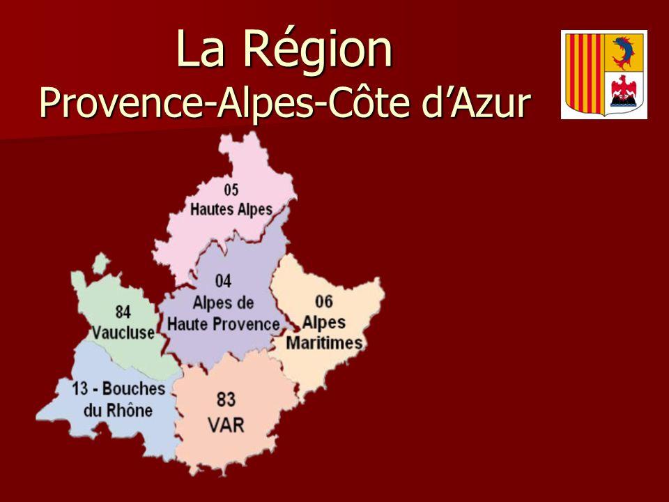 La Région Provence-Alpes-Côte dAzur