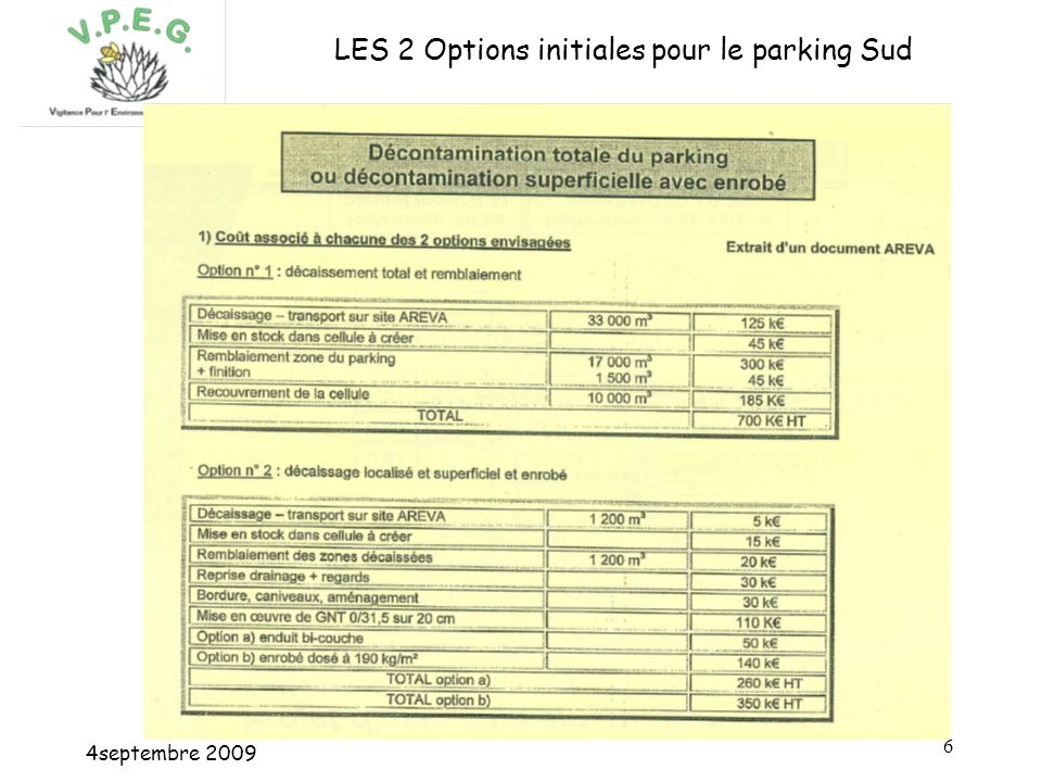 4septembre LES 2 Options initiales pour le parking Sud