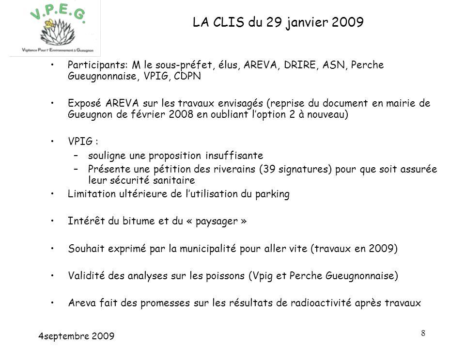 4septembre 2009 9 LES TRAVAUX PROPOSES PAR AREVA