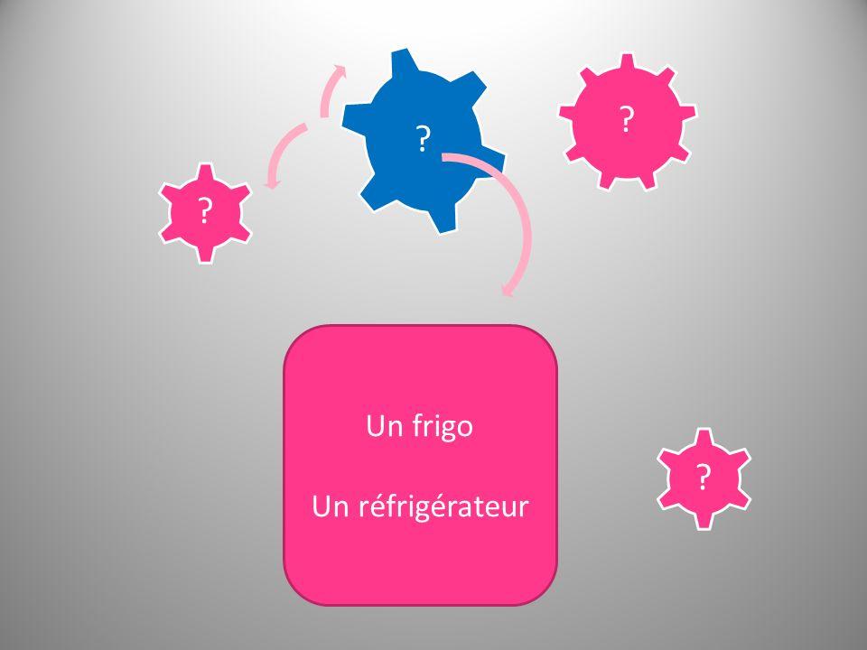 Un frigo Un réfrigérateur