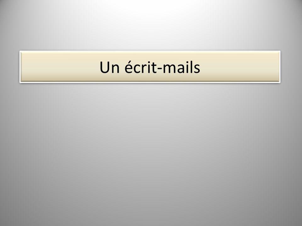 Un écrit-mails