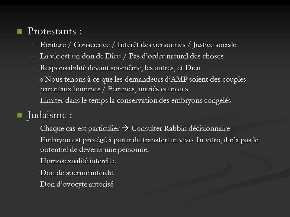 Protestants : Protestants : Ecriture / Conscience / Intérêt des personnes / Justice sociale Ecriture / Conscience / Intérêt des personnes / Justice so