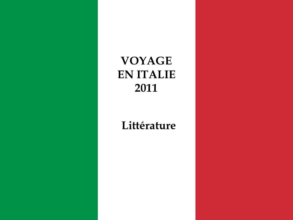 VOYAGE EN ITALIE 2011 Littérature