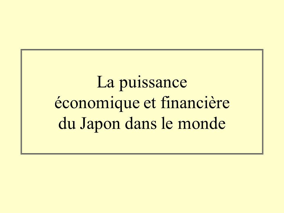 La puissance économique et financière du Japon dans le monde