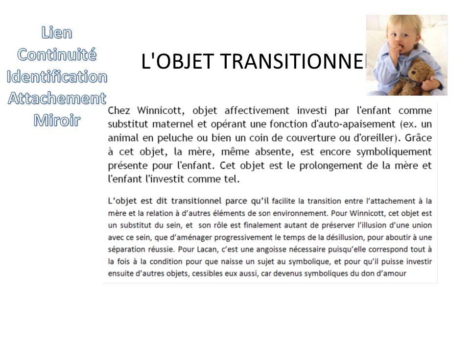 L'OBJET TRANSITIONNEL