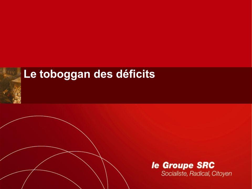 Le toboggan des déficits
