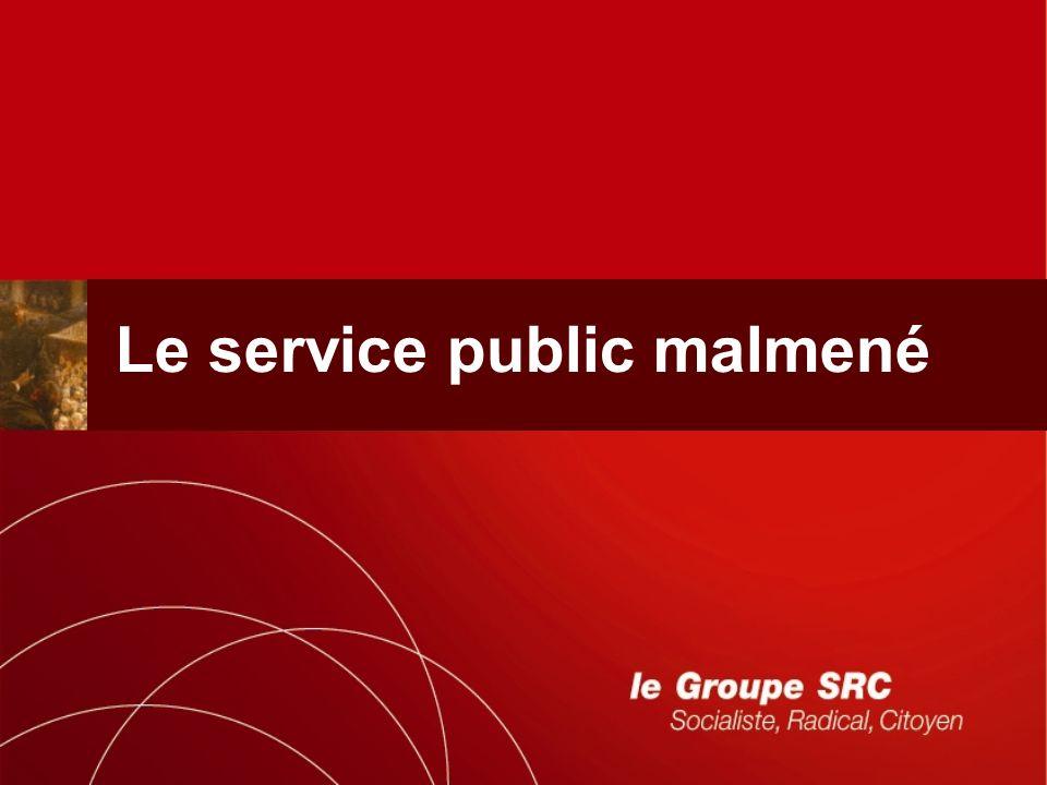 Le service public malmené