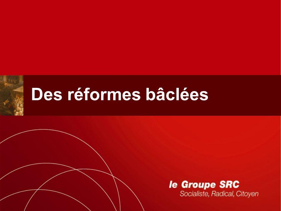Des réformes bâclées