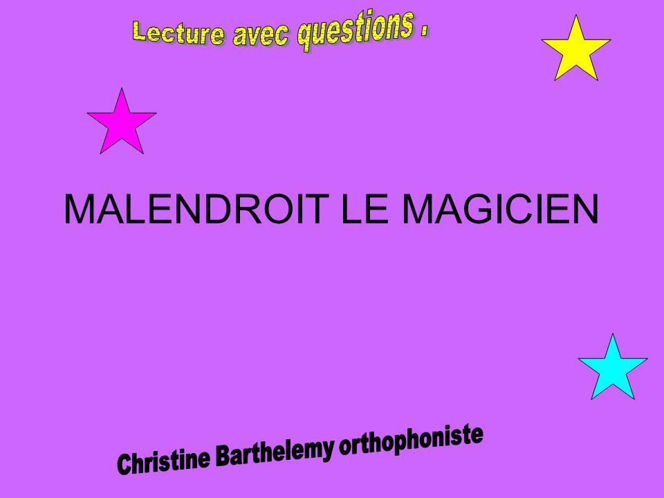 Malendroit est un jeune magicien de 12 ans, dont la particularité est de faire des tours de magie un peu bizarres, et pas toujours réussis.