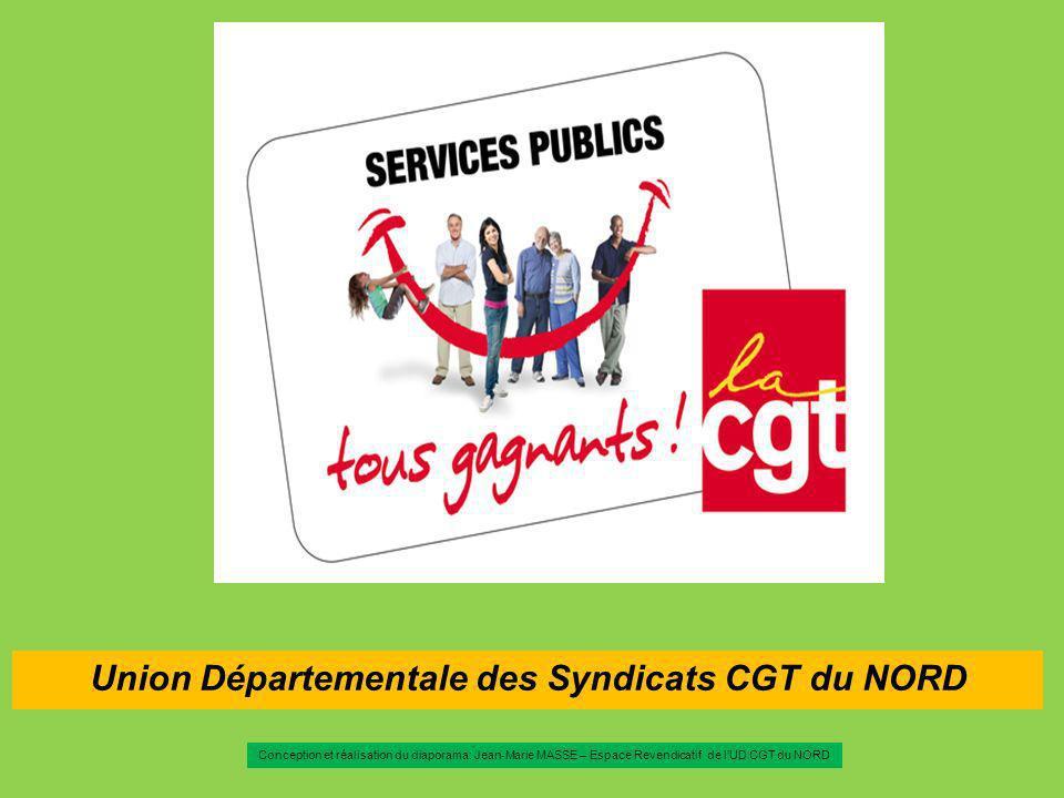 Union Départementale des Syndicats CGT du NORD Conception et réalisation du diaporama: Jean-Marie MASSE – Espace Revendicatif de lUD CGT du NORD