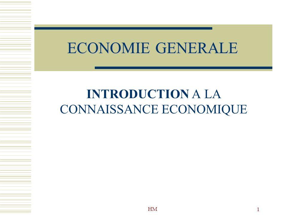 HM 1 ECONOMIE GENERALE INTRODUCTION A LA CONNAISSANCE ECONOMIQUE