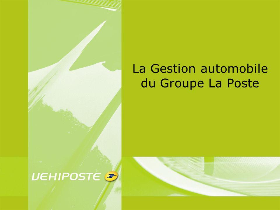 La Gestion automobile du Groupe La Poste