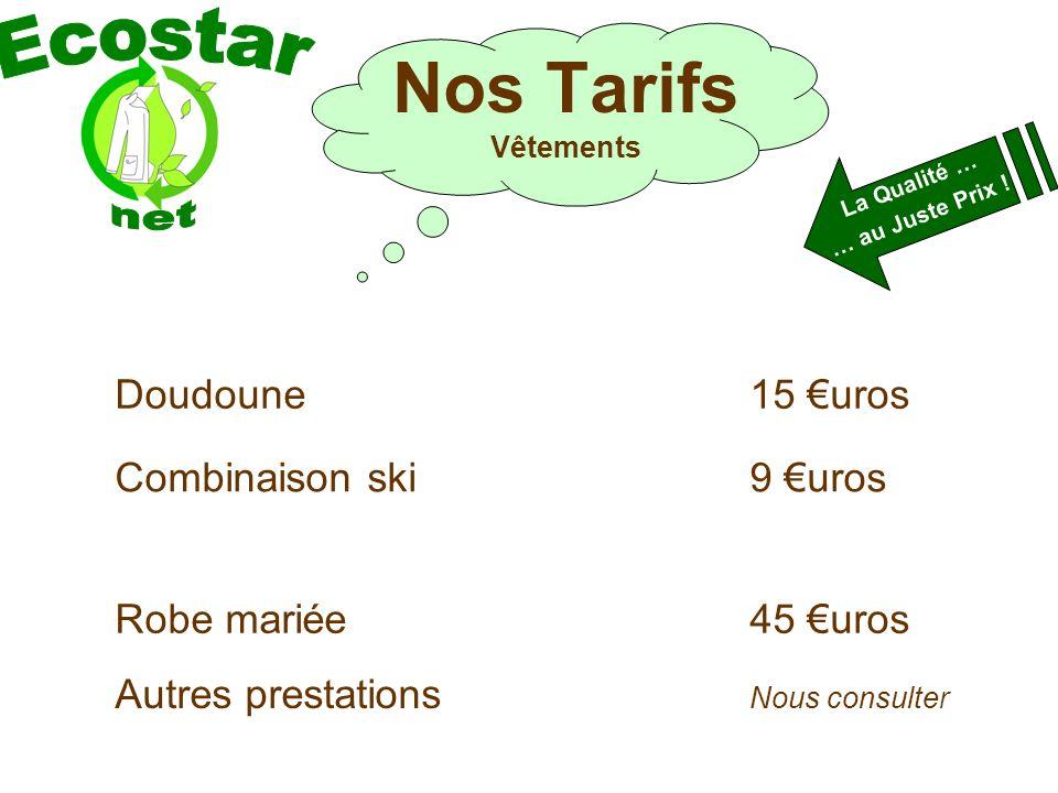 Doudoune15 uros Combinaison ski9 uros Autres prestations Nous consulter La Qualité … … au Juste Prix .