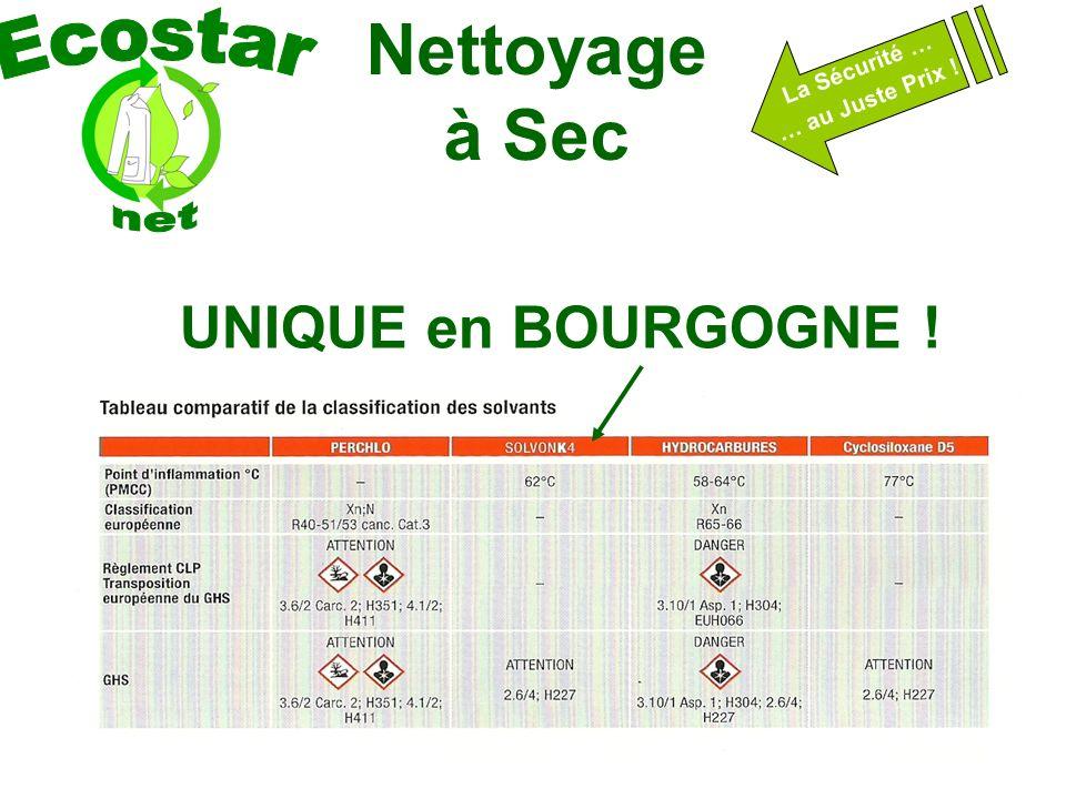 Nettoyage à Sec La Sécurité … … au Juste Prix ! UNIQUE en BOURGOGNE !
