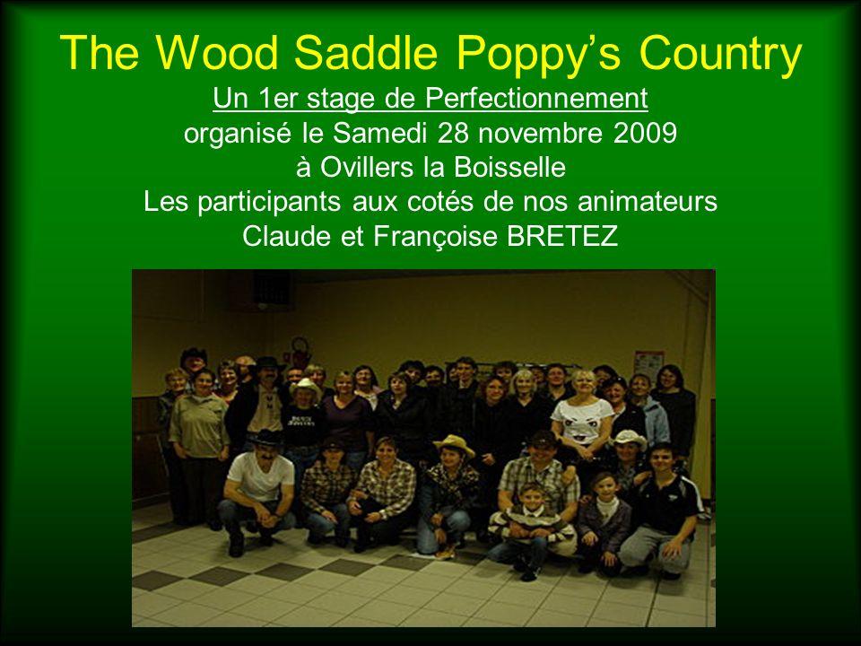 The Wood Saddle Poppys Country Un 1er stage de Perfectionnement organisé le Samedi 28 novembre 2009 à Ovillers la Boisselle Les participants aux cotés