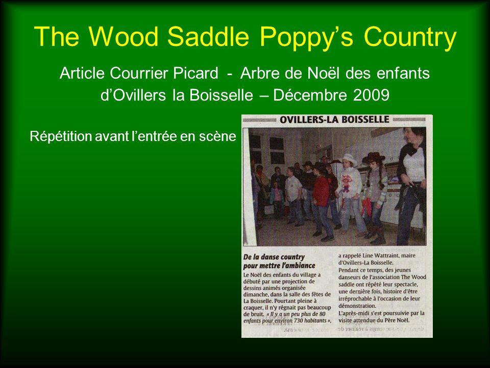 The Wood Saddle Poppys Country Article Courrier Picard - Arbre de Noël des enfants dOvillers la Boisselle – Décembre 2009 Répétition avant lentrée en
