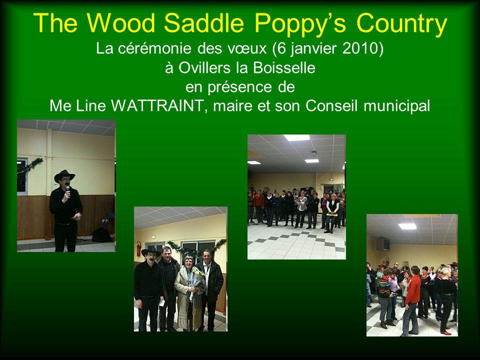 The Wood Saddle Poppys Country La cérémonie des vœux (6 janvier 2010) à Ovillers la Boisselle en présence de Me Line WATTRAINT, maire et son Conseil m