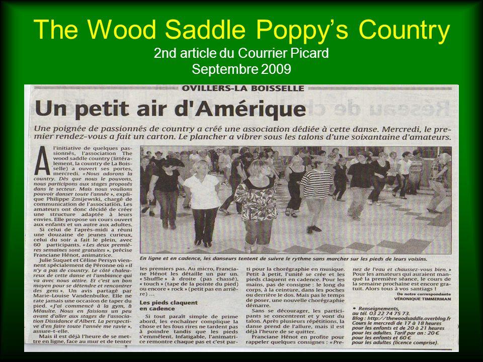The Wood Saddle Poppys Country Article Courrier Picard - Arbre de Noël des enfants dOvillers la Boisselle – Décembre 2009 Répétition avant lentrée en scène