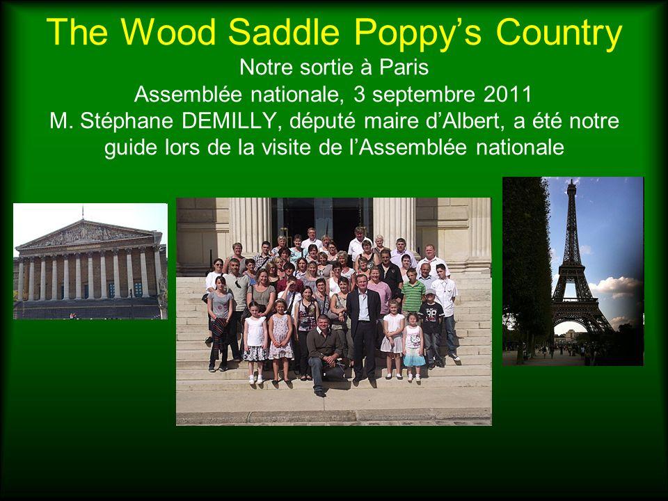 The Wood Saddle Poppys Country Notre sortie à Paris Assemblée nationale, 3 septembre 2011 M. Stéphane DEMILLY, député maire dAlbert, a été notre guide