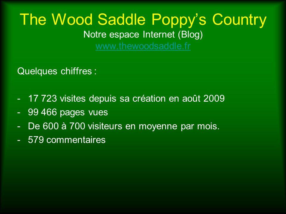 The Wood Saddle Poppys Country Notre espace Internet (Blog) www.thewoodsaddle.fr www.thewoodsaddle.fr Quelques chiffres : -17 723 visites depuis sa cr