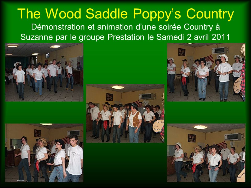 The Wood Saddle Poppys Country Notre participation au Festival West Country de Bain de Bretagne Août 2011