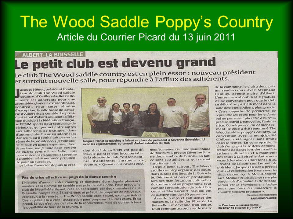 The Wood Saddle Poppys Country Article du Courrier Picard du 13 juin 2011