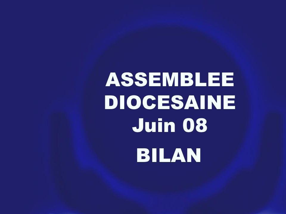 ASSEMBLEE DIOCESAINE Juin 08 BILAN