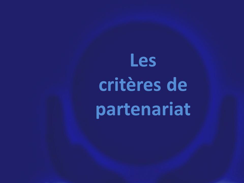 Les critères de partenariat