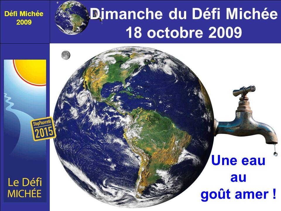 Défi Michée 2009 Une eau au goût amer ! Dimanche du Défi Michée 18 octobre 2009