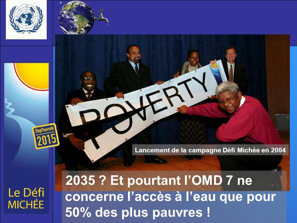 2035 .Et pourtant lOMD 7 ne concerne laccès à leau que pour 50% des plus pauvres .