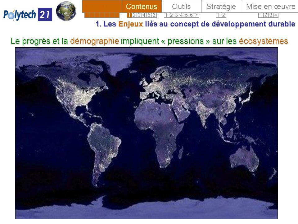 1. Les Enjeux liés au concept de développement durable 1.
