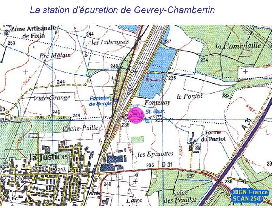 La station dépuration de Gevrey-Chambertin