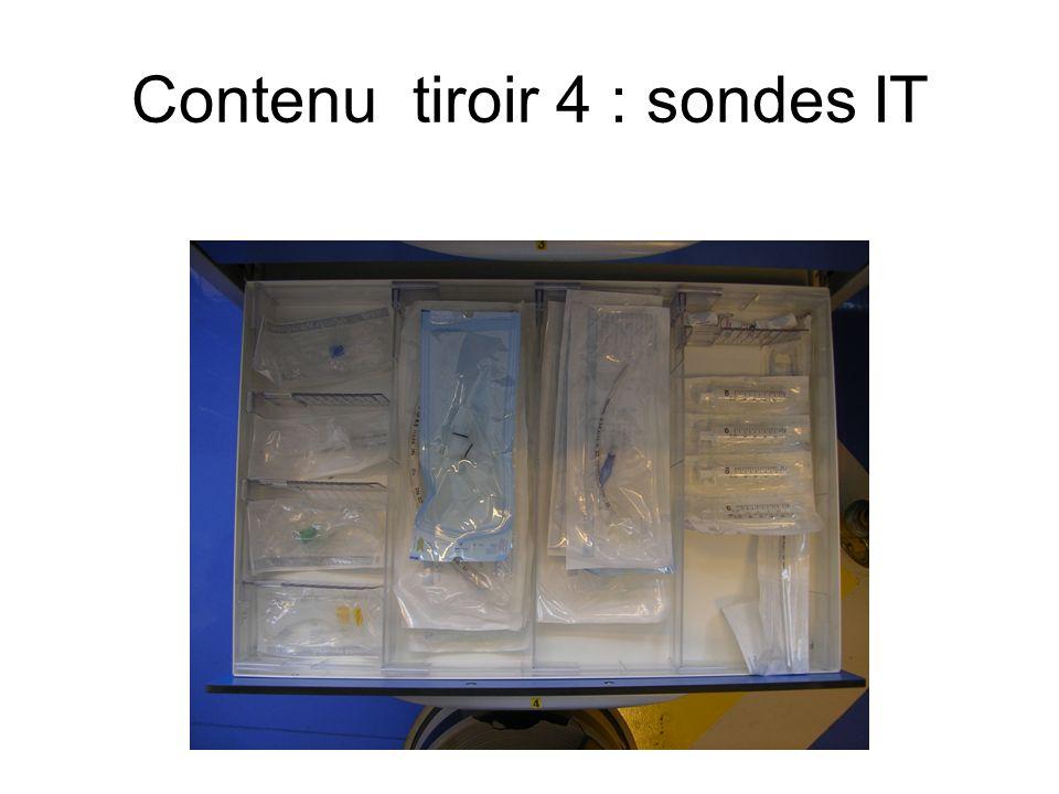 Contenu tiroir 4 : sondes IT