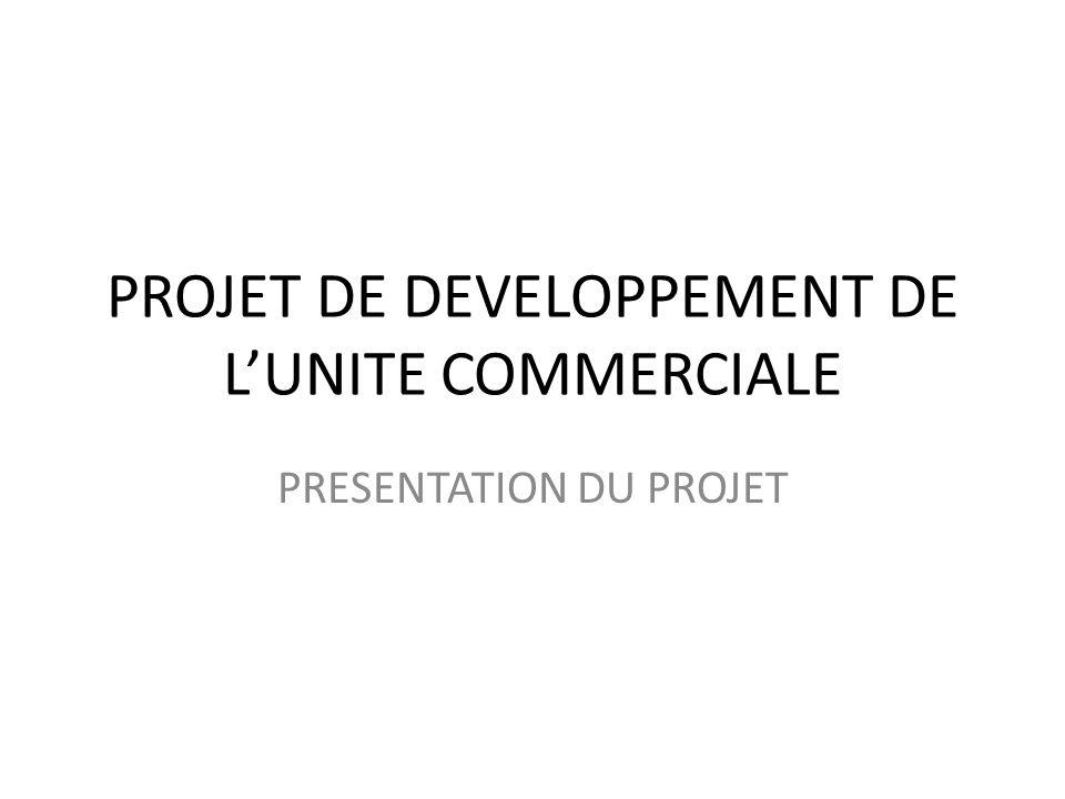 PROJET DE DEVELOPPEMENT DE LUNITE COMMERCIALE PRESENTATION DU PROJET