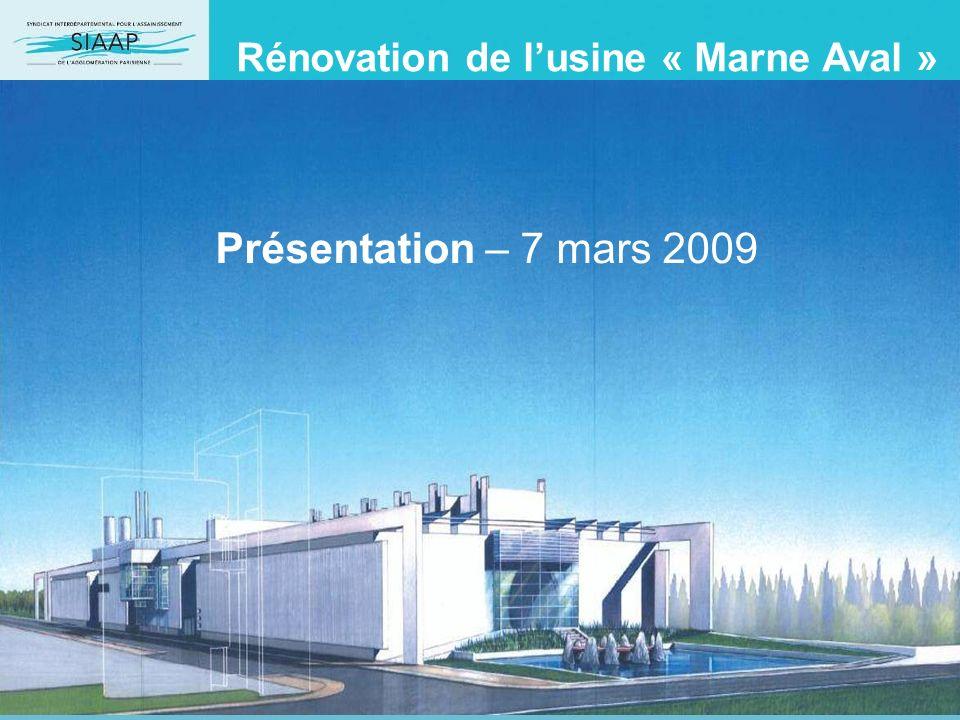 Rénovation de lusine « Marne Aval » Présentation – 7 mars 2009