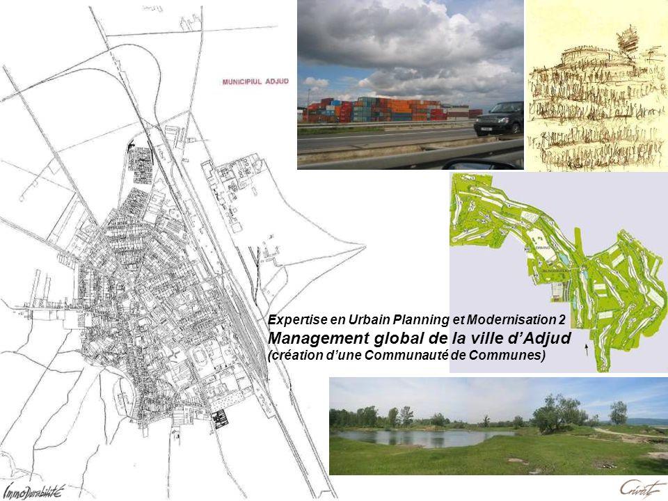 Expertise en Urbain Planning et Modernisation 2 Management global de la ville dAdjud (création dune Communauté de Communes)