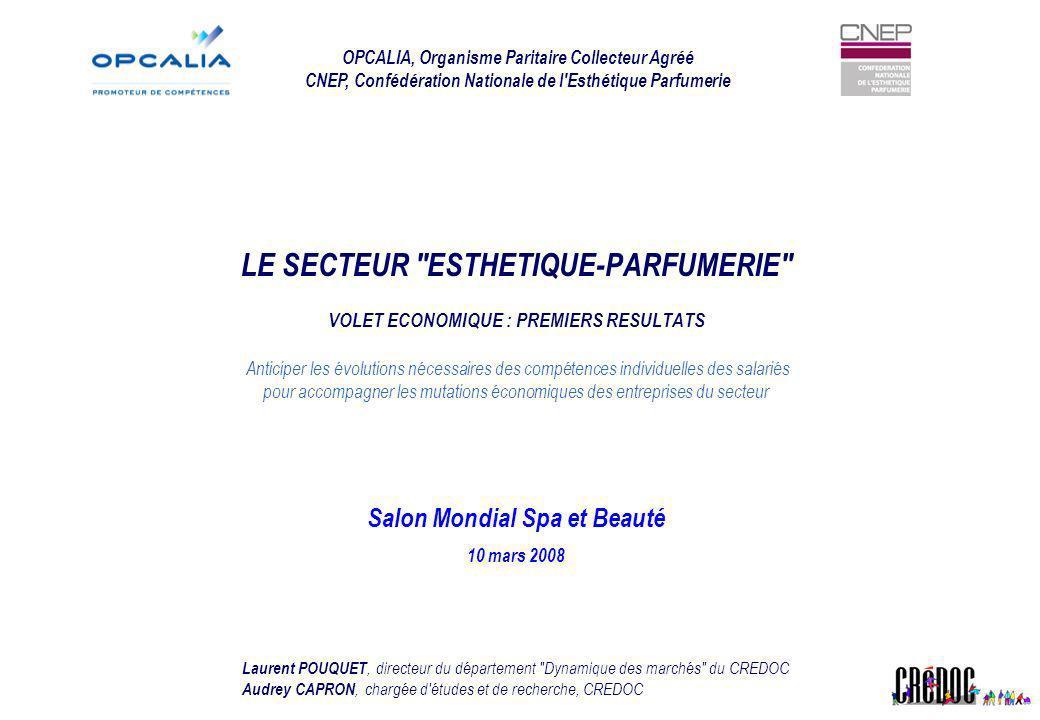 Les enjeux de l étude L analyse économique du secteur vise à : Recenser l ensemble des acteurs intervenant sur le secteur de l Esthétique - Parfumerie ainsi que leur poids économique dans le secteur.