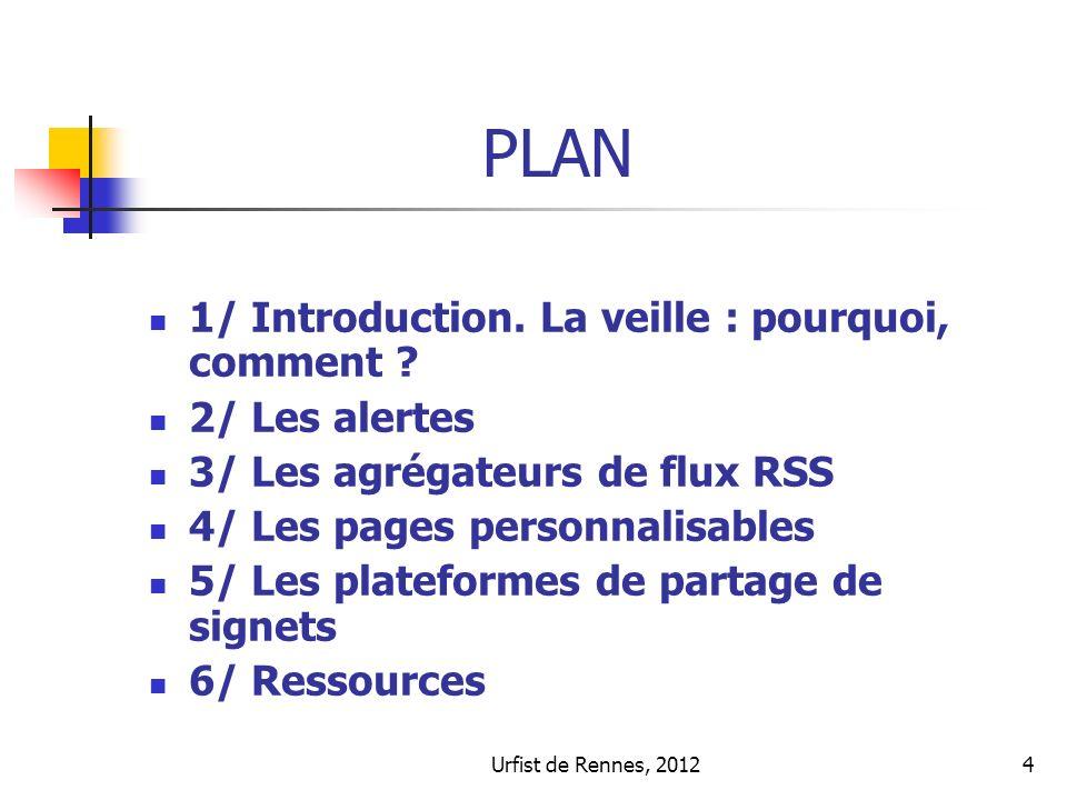 4 PLAN 1/ Introduction. La veille : pourquoi, comment .