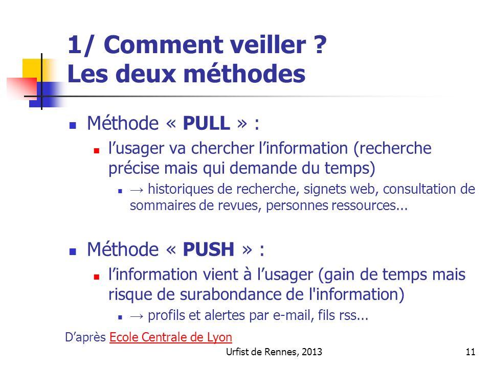 Urfist de Rennes, 201311 1/ Comment veiller .