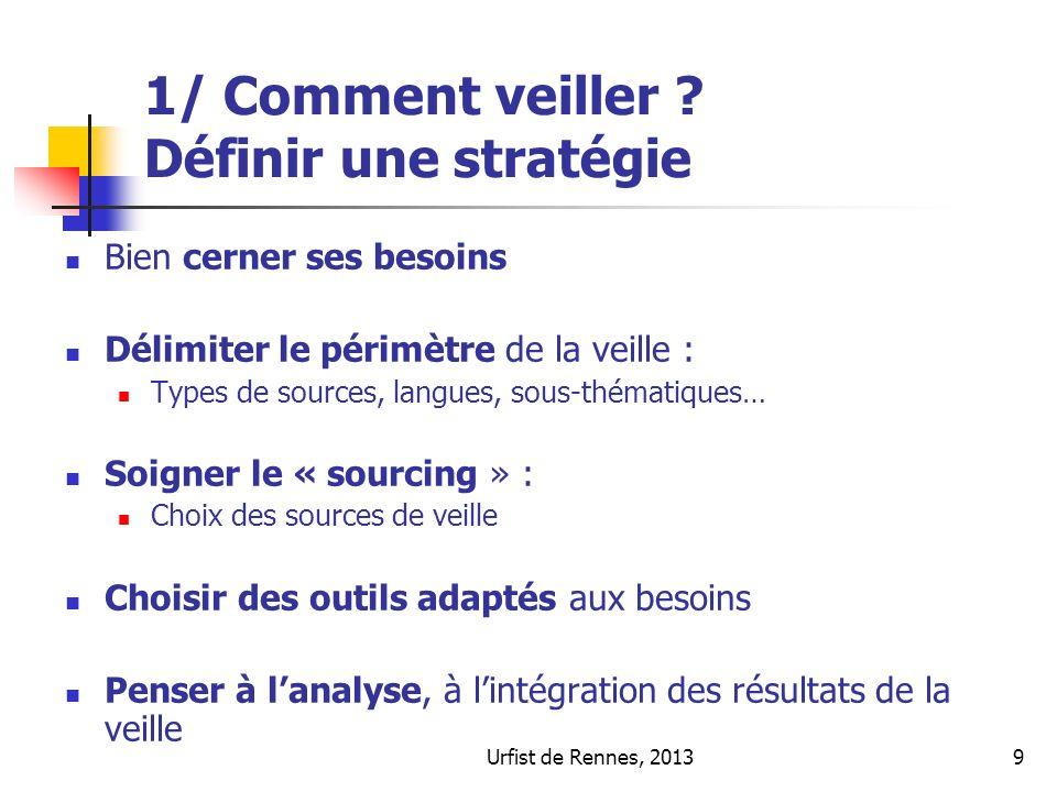 Urfist de Rennes, 20139 1/ Comment veiller .