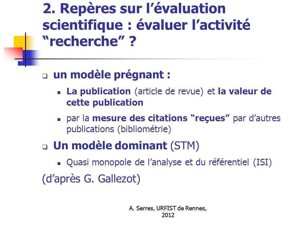 A. Serres, URFIST de Rennes, 2012 2.